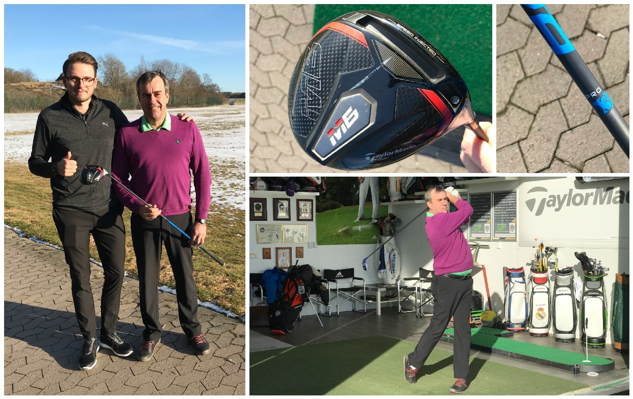 Micke fick fart med TaylorMade Speed Injected Twist Face -Michael Broström