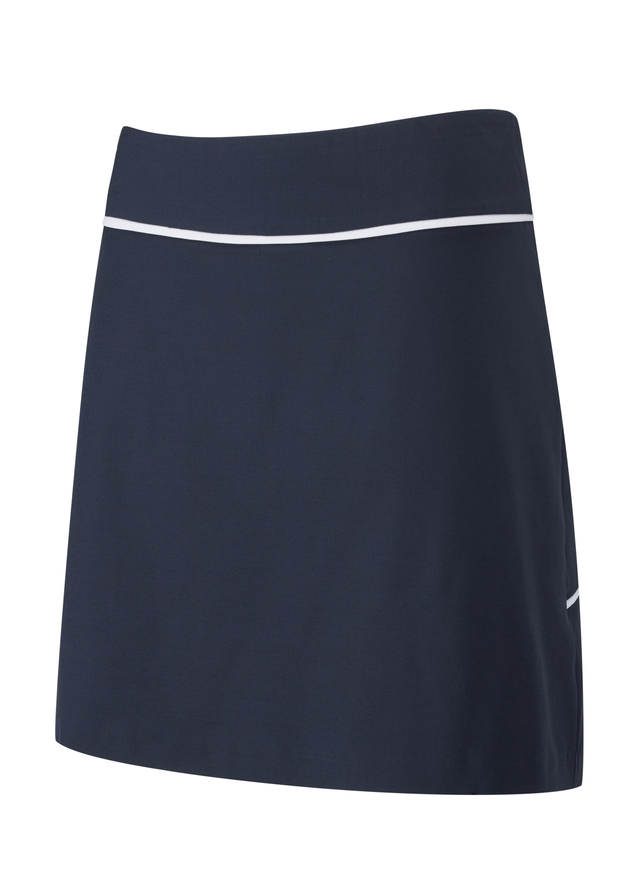 Svalkande vår/sommar-kollektioner från Ping - Alia. Pull-on performance four-way stretch skort with pleated detail and scorecard pocket. Also featuring an inner short, the skort features stretch and moisture moving properties.